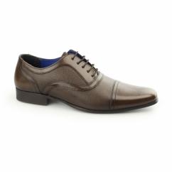 POTTON Mens Leather Toe Cap Oxford Brown