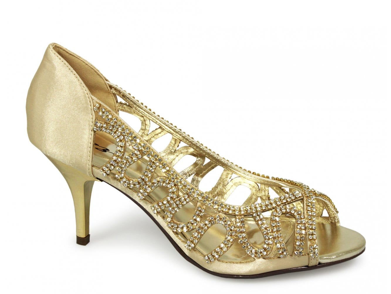 Gold Kitten Heel Shoes Uk