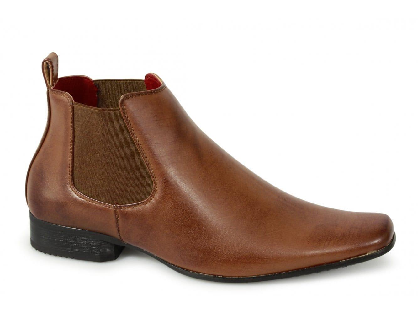 mens chisel toe smart office formal comfy ankle