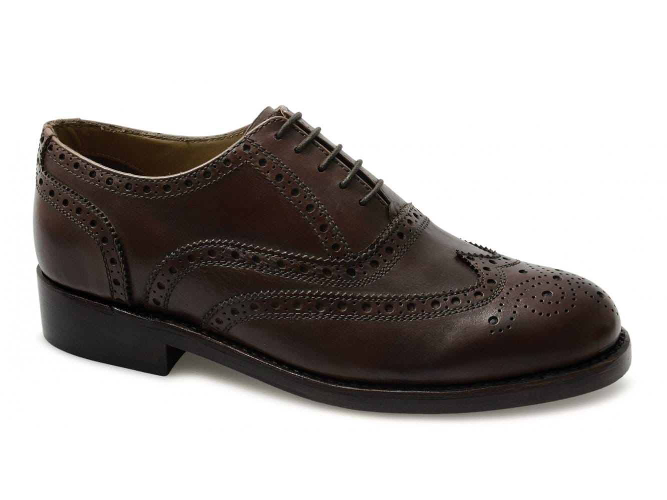 Lucini Mens Leather Goodyear Welted Brogue Shoes