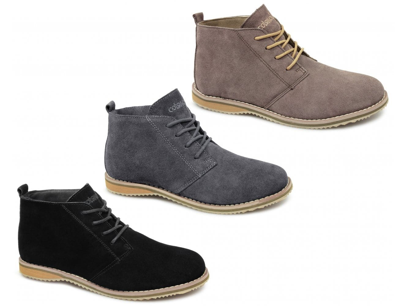 cotswold snowhill mens womens suede ankle desert