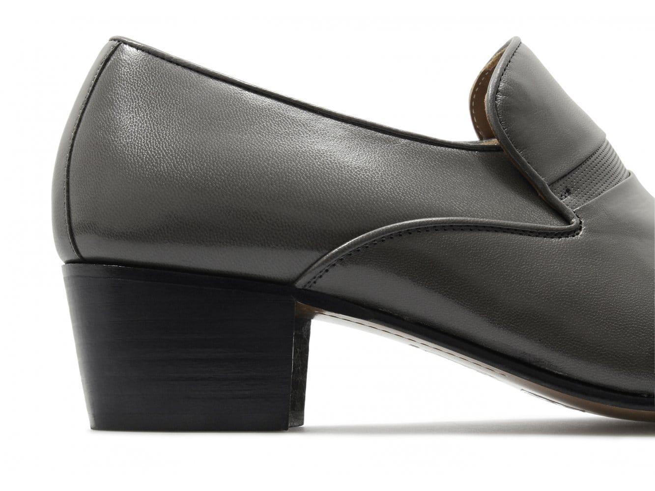 eduardo mens luxury leather cuban heel slip on formal