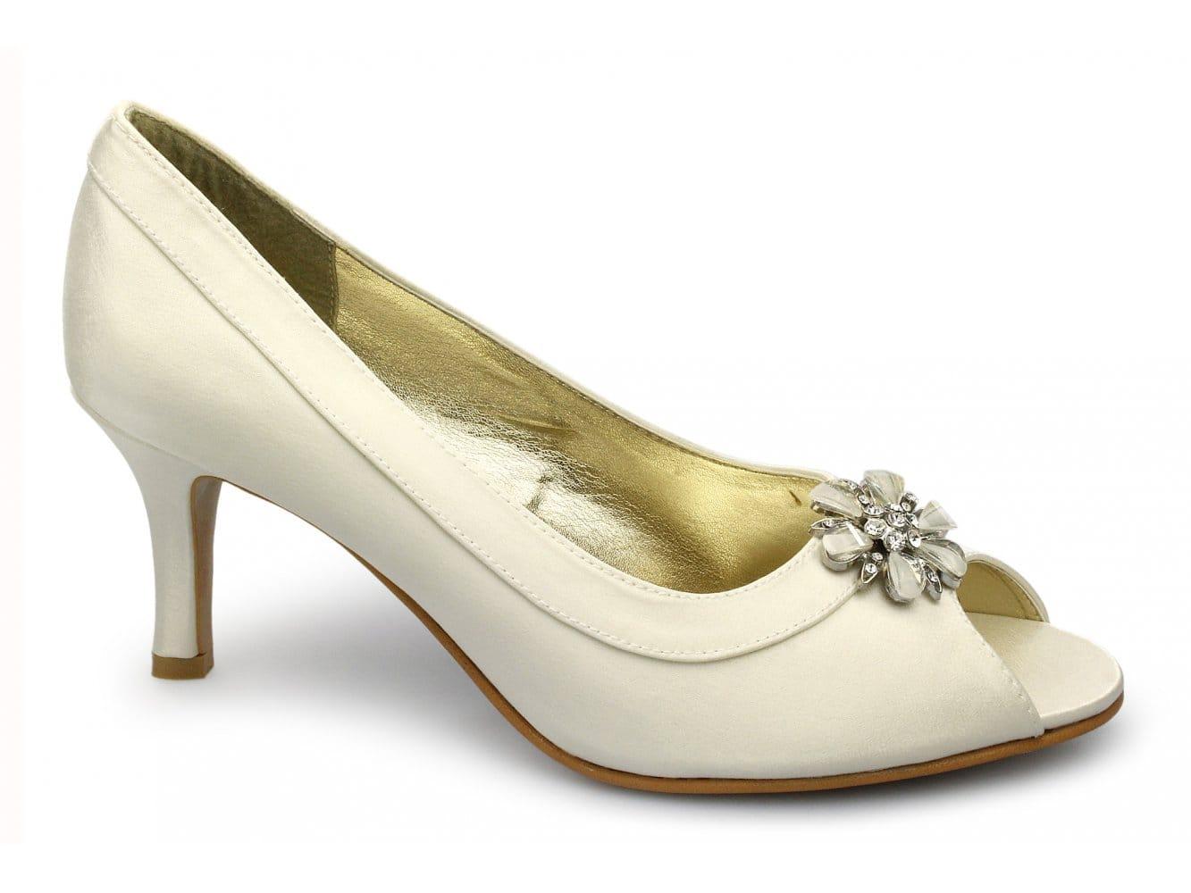 womens satin peep toe wide fit comfy stiletto heels