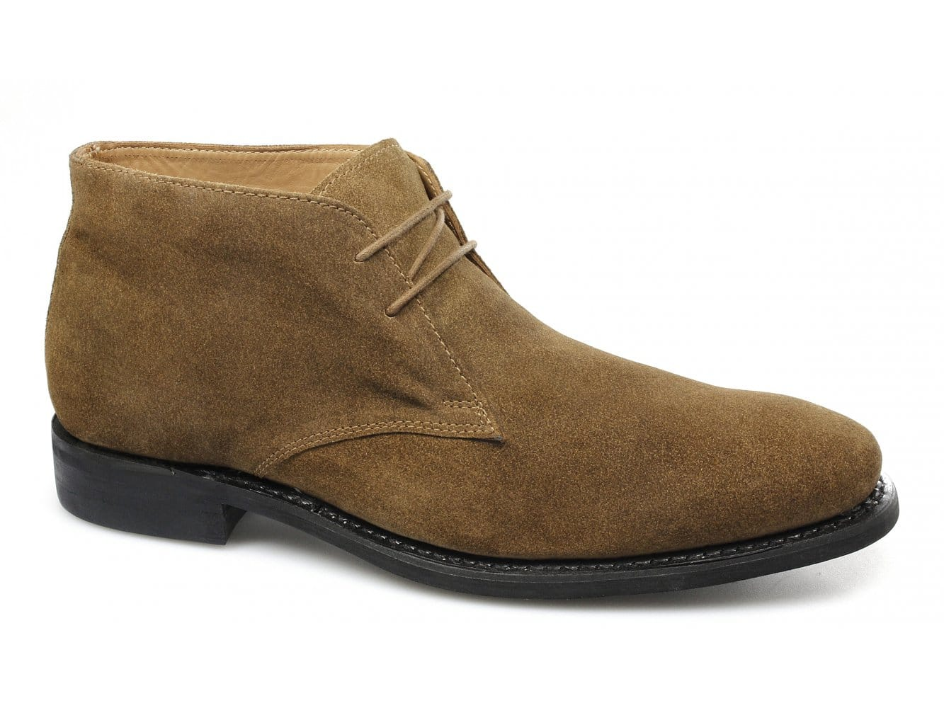 Lucini Mens Suede Goodyear Welted Rubber Ankle Chukka Boots Brown ...