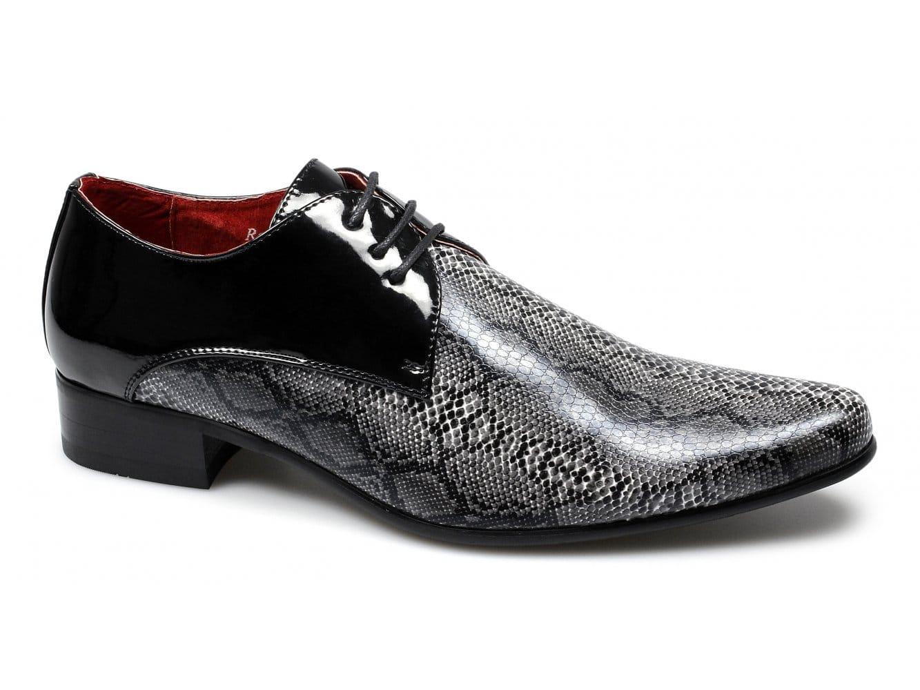 Mens White Snakeskin Dress Shoes