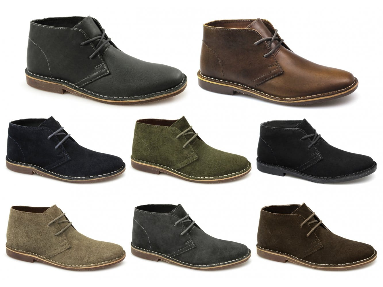 red tape gobi ii mens original leather suede lace up comfy casual desert boots ebay. Black Bedroom Furniture Sets. Home Design Ideas