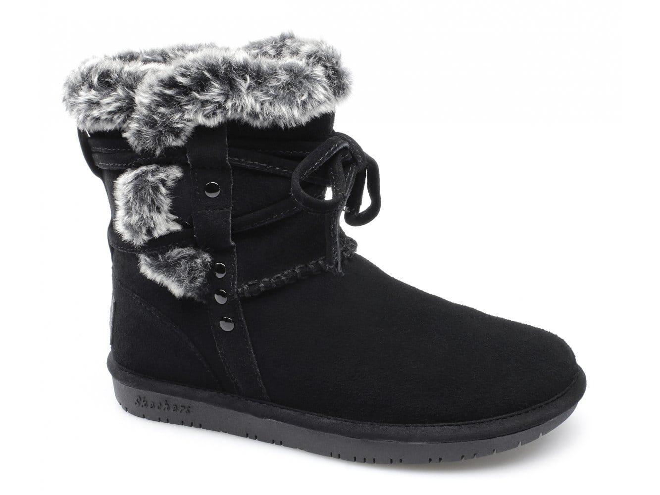 Skechers Premium Faux Fur Womens Shoes