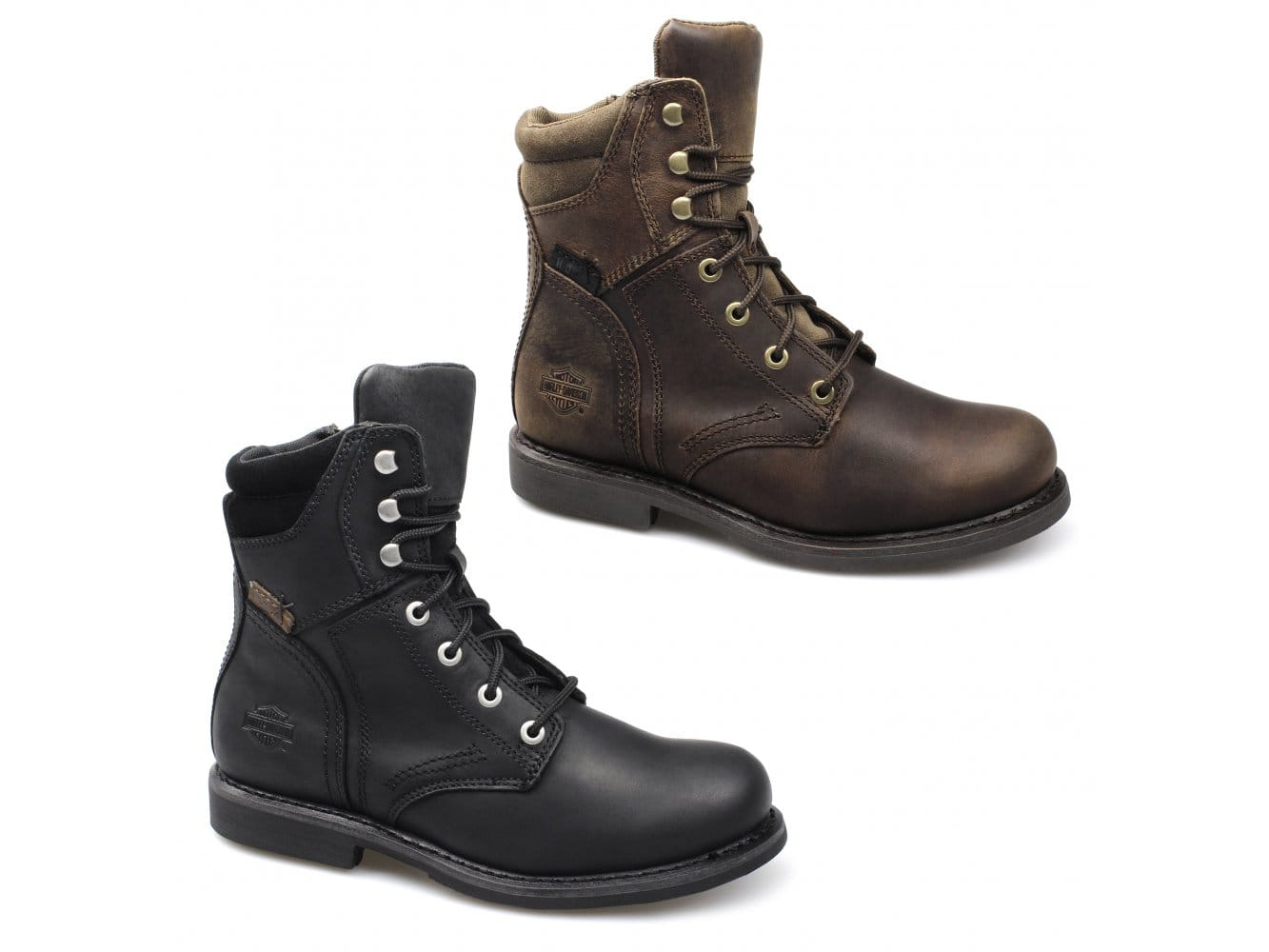 Harley Davidson DARNEL Mens Leather Suede Lace Up Zip Casual Ankle Combat Boots