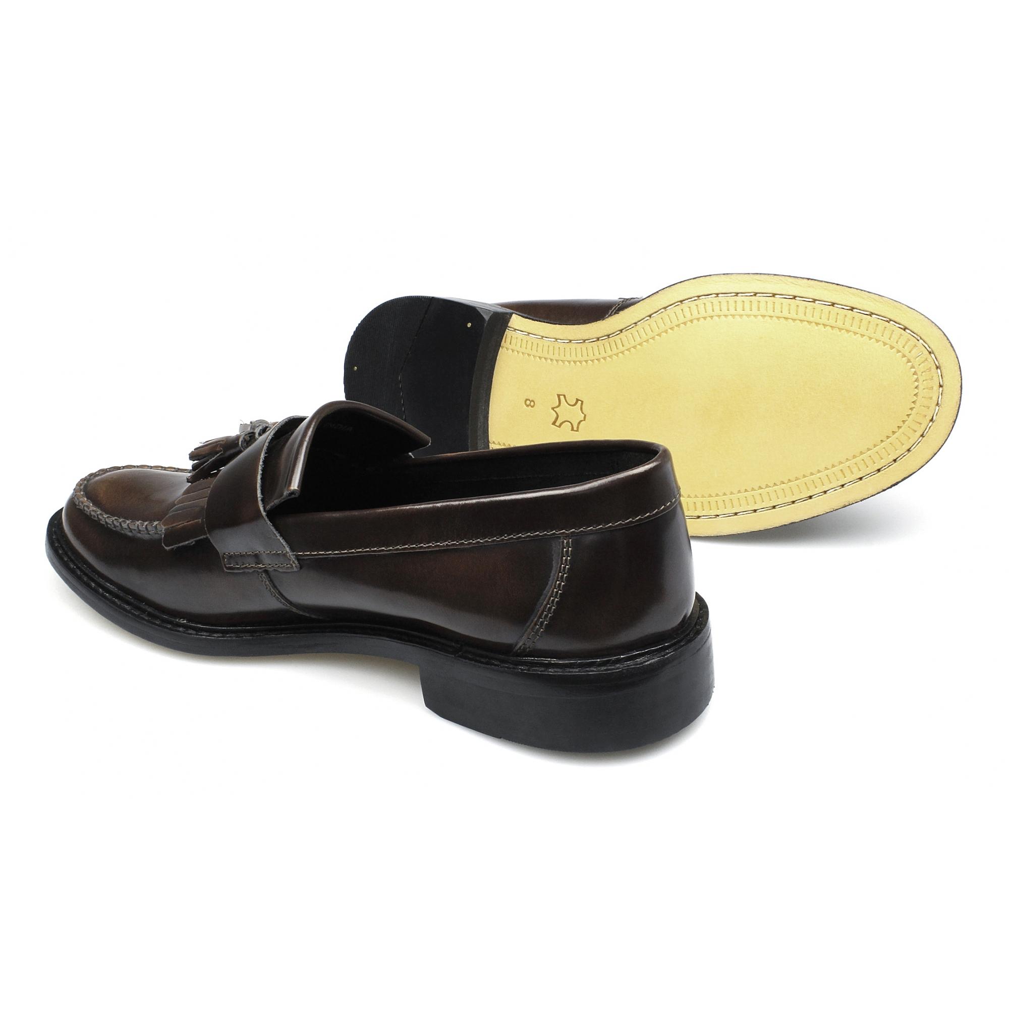 shuperb scooter mens polished leather slip on moccasin