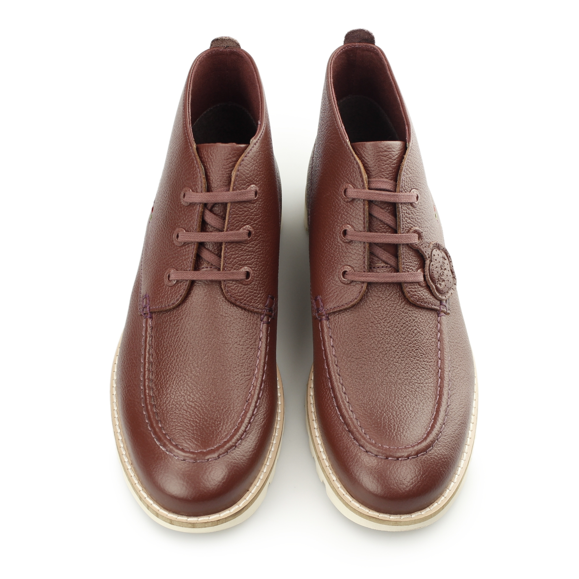 kickers kymbo mocc mens leather lace up casual comfy