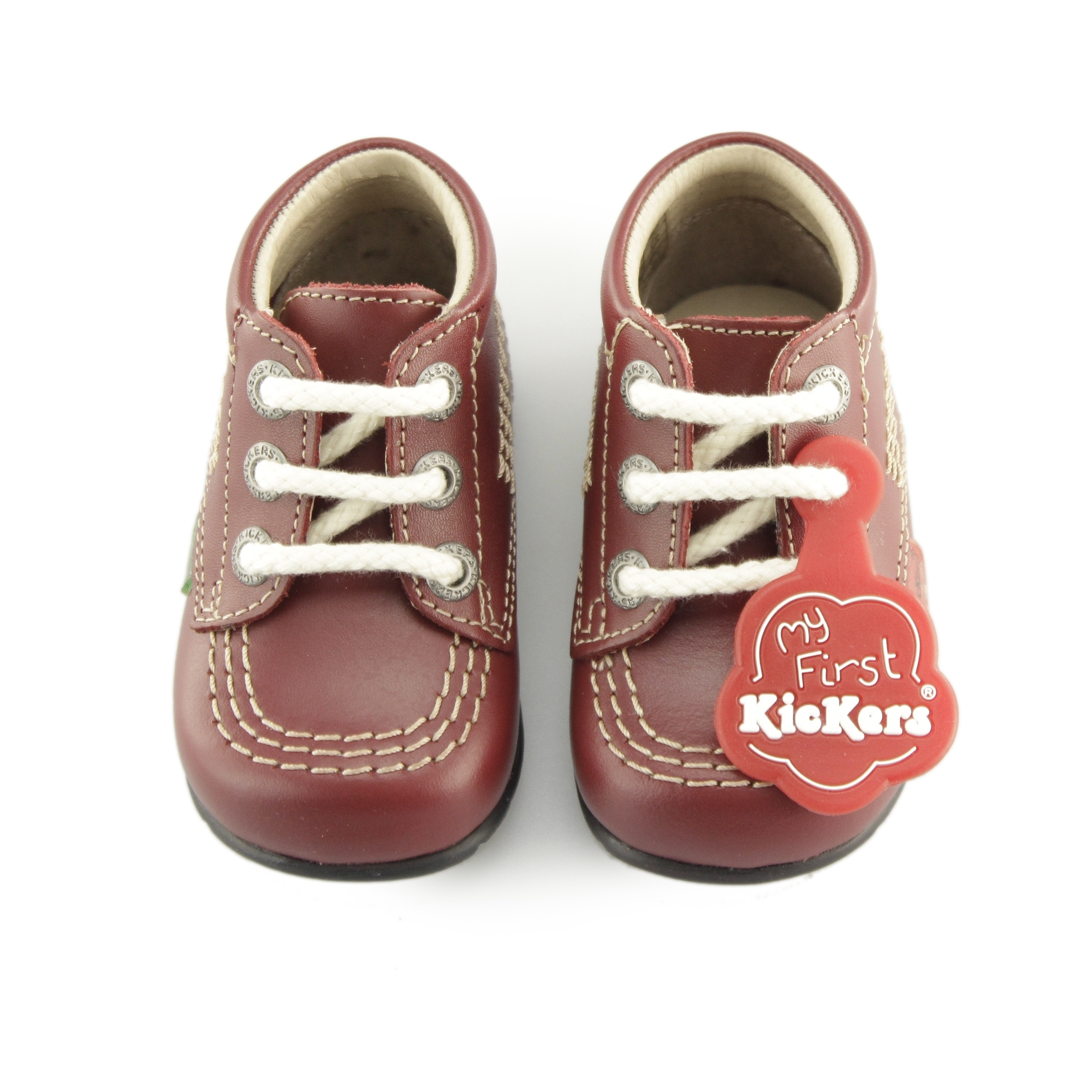 Kickers KICK HI B CORE Unisex Babies Toddlers First Walking Leather Boots Red