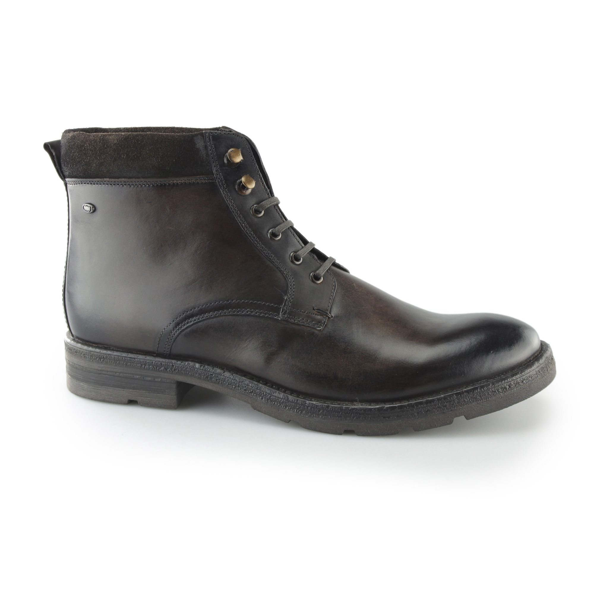 Base London Panzer Leather Lace Up Boots In 6WYEGlNG