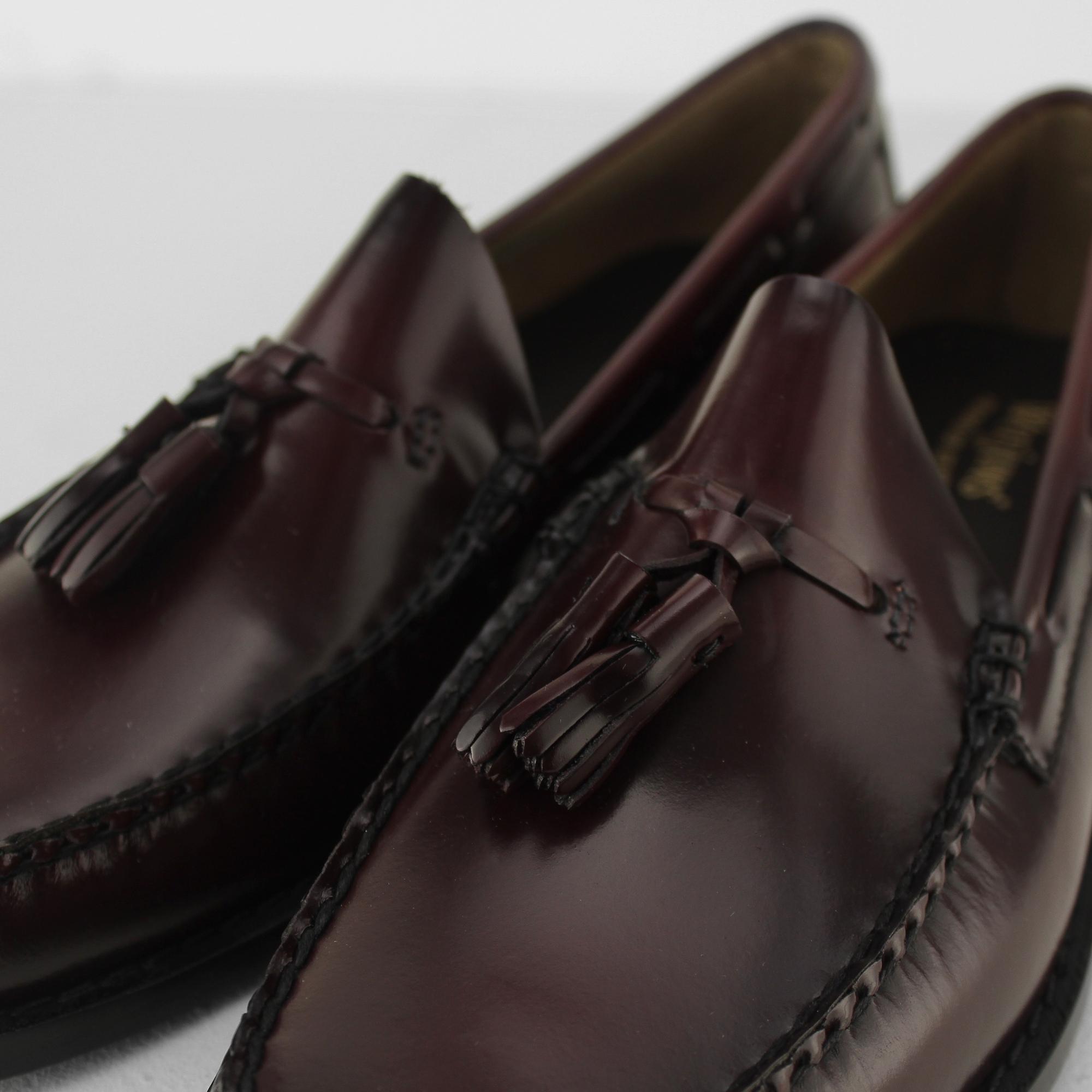 afb28ade3c G.H. Bass   Co. Weejuns LARKIN Mens Polished Leather Moccasin Tassel ...