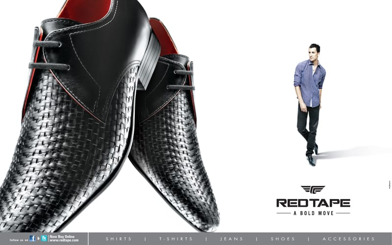 Red tape shoes ad