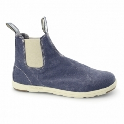 1422 Mens Canvas Chelsea Boots Navy Denim