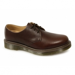 1461 Unisex Tan Analine Uniform Shoes Brown