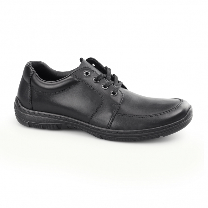 Rieker 15223-01 Mens Leather Lace Up Shoes Black