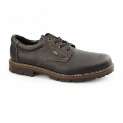 17710-25 Mens Leather Lace Up Wide Shoes Brown
