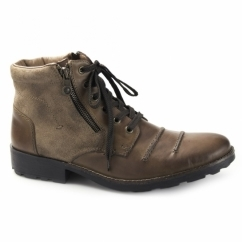 36031 Mens Wool Lined Ankle Boots Brown