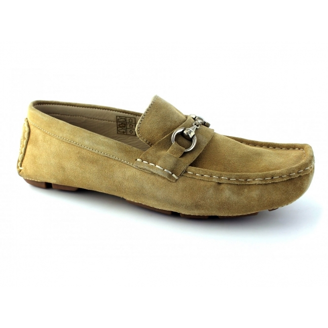 Ted Lapidus 3635 Mens Suede Driving Loafers Beige