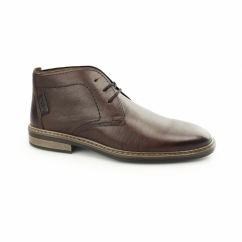 37612-26 Mens Leather Wide Warm Chukka Boots Brown
