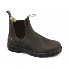 584 Mens Premium Nubuck Waterproof Chelsea Boots Rustic Brown