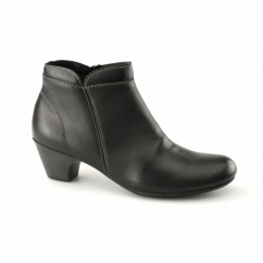 70550-00 Ladies Leather Zip Warm-Lined Boots Black