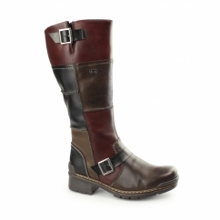 74382-25 Ladies Warm Lined Tall Winter Boots Brown