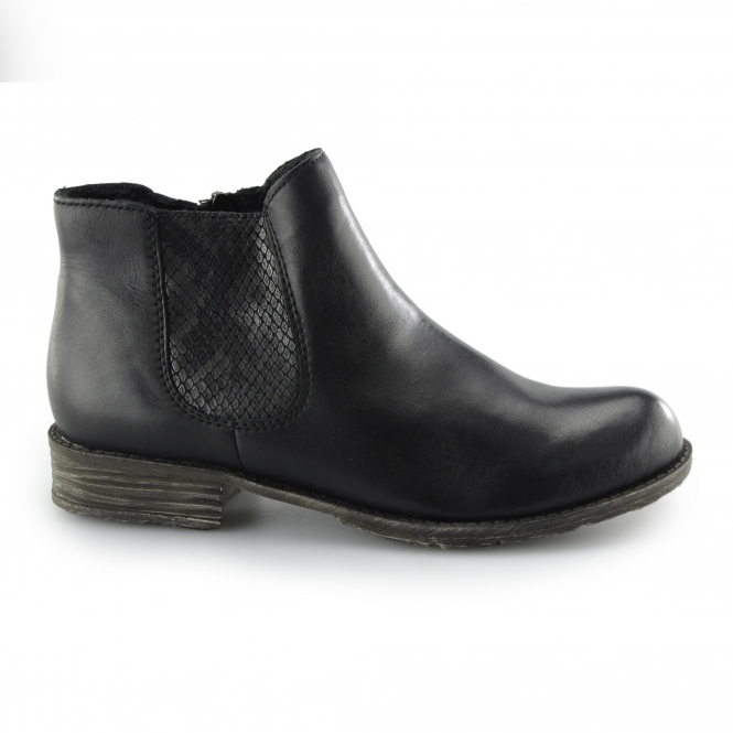 c51229dd256 Rieker 74786-00 Ladies Warm Lined Zip Chelsea Boots Black | Shuperb