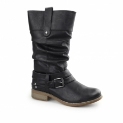 95678-00 Ladies Warm Lined Calf High Boots Black