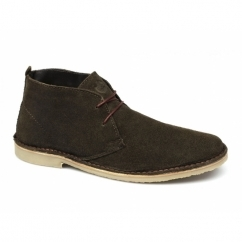 A.K. Mens Suede Lace-Up Desert Boots Chocolate