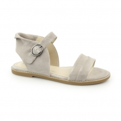 ABIA CHRISSIE Ladies Suede Leather Open Toe Sandals Taupe