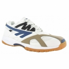 AD PRO Mens Court Shoe Sports Trainers White/Navy