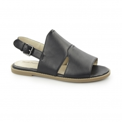 ADIRON CHRISSIE Ladies Leather Slingback Sandals Black