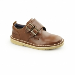 ADLAR MONK DSTRAP Kids Leather Monkstrap Shoes Tan