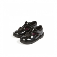 ADLAR T Girls Patent Leather Shoes Black