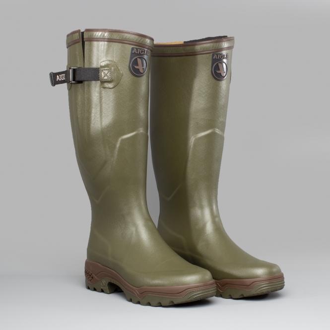 Conception innovante 22904 691b6 Aigle PARCOURS 2 VARIO Gusset Unisex Buckle Wellington Boots Kaki