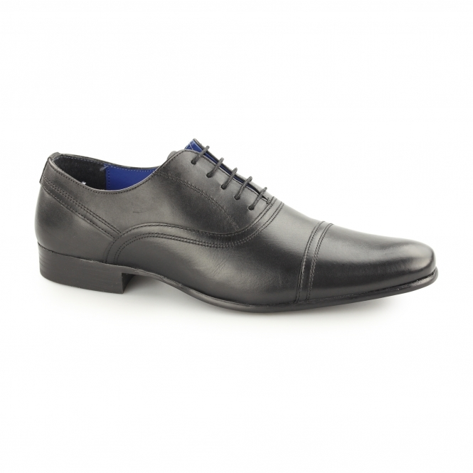 Red Tape ALMOND Mens Leather Oxford Brogues Black
