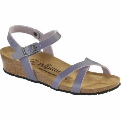 ALYSSA Ladies Open Toe Wedge Sandals Lavender