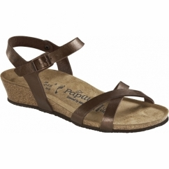 ALYSSA Ladies Open Toe Wedge Sandals Toffee