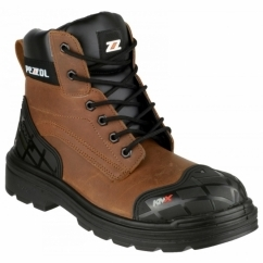 Amazon 649 Mens Safety Boots Brown