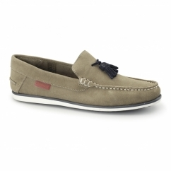 AMBICA Mens Suede Leather Loafers Tan