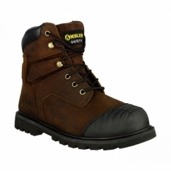 FS10 Mens SB SRA Safety Boots Brown