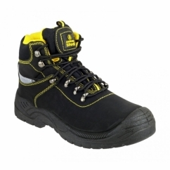 FS213 Unisex S1 Safety Boots Black