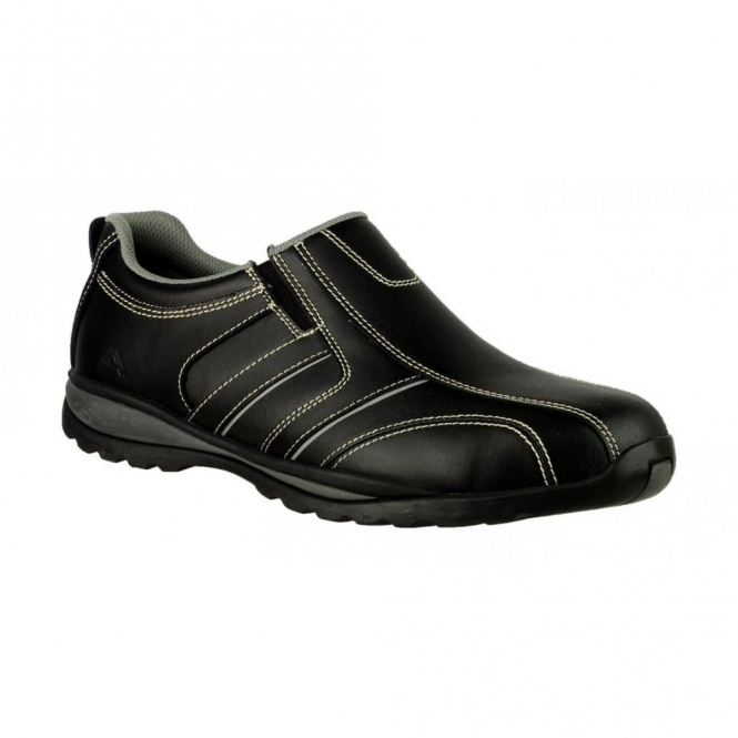 Amblers Safety FS63 Mens Safety Steel S1 Shoes Black