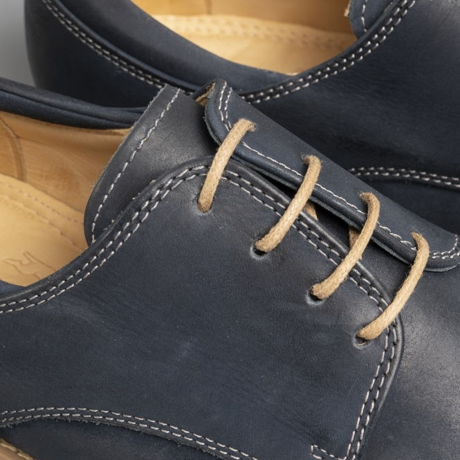 f063a54cf71 DELTA Mens Leather Derby Shoes Navy