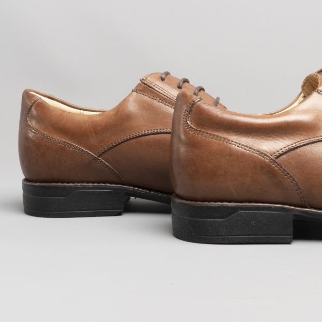 FORMOSA Mens Eyelet Lace Up Square Toe Leather Formal Shoe Havana Anatomic /& Co