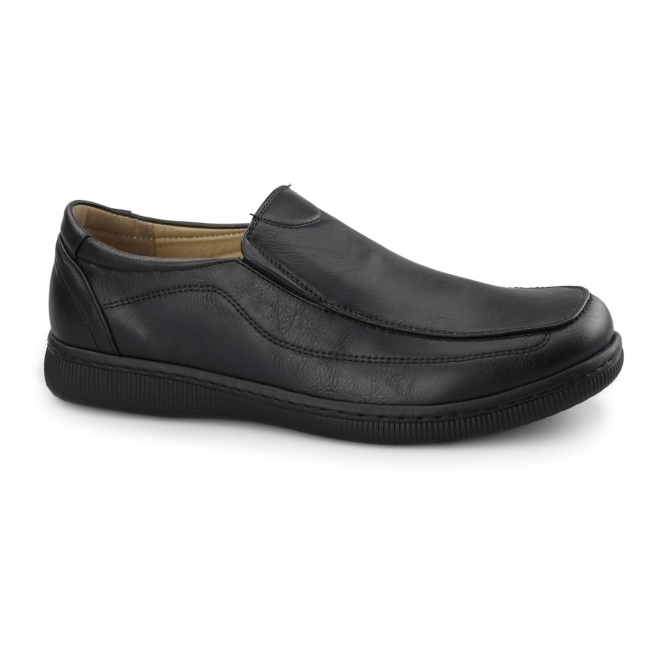 Dr Keller ANDREW Mens Casual Slip On Loafers Black