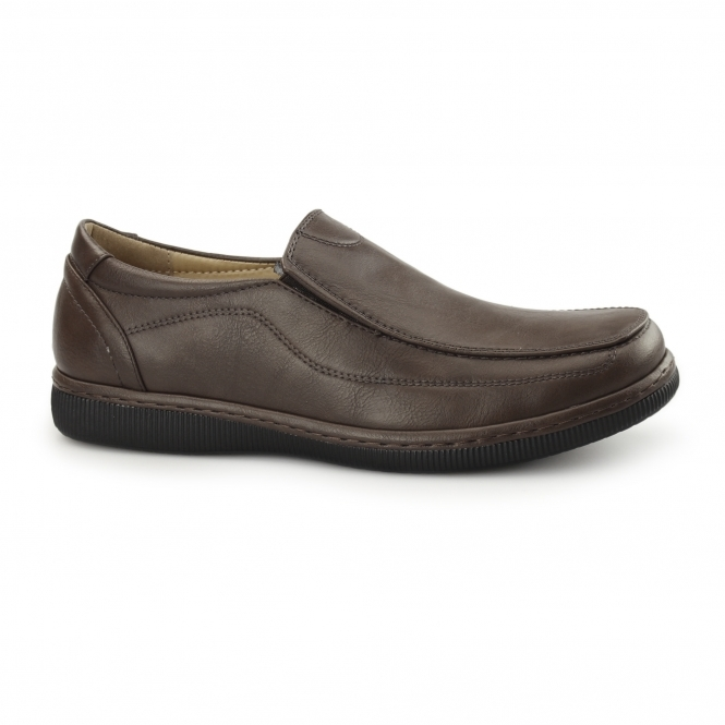 Dr Keller ANDREW Mens Casual Slip On Loafers Brown