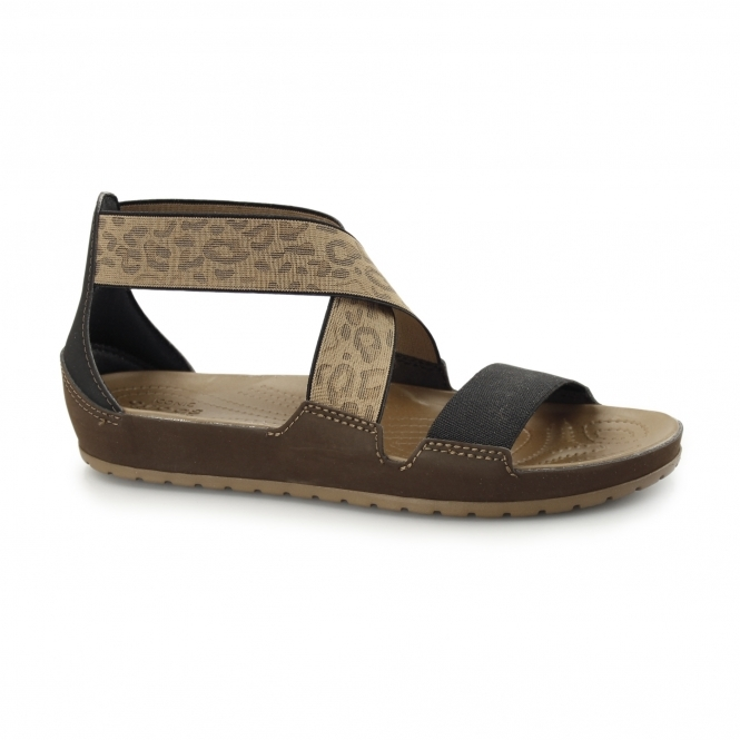 Crocs ANNA ANKLE STRAP Ladies Sandals Hazelnut/Espresso